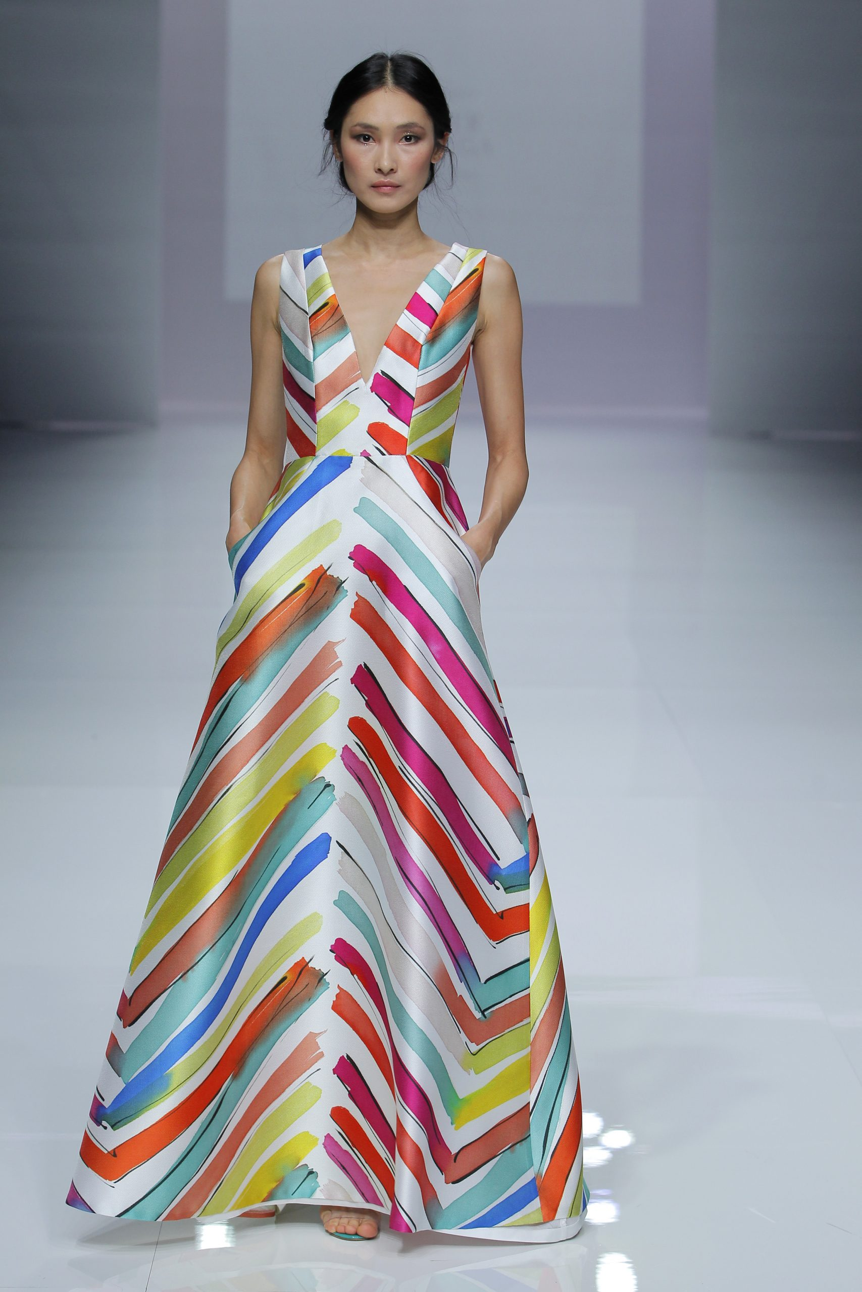 Esther Noriega desfila por primera vez en la Barcelona Bridal Fashion Week