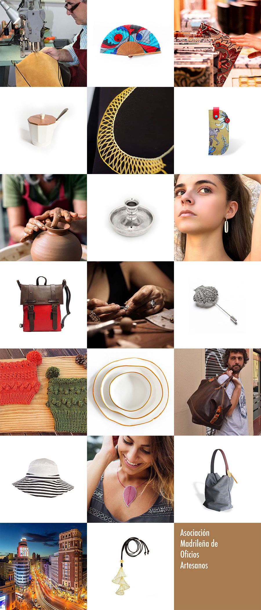 AMOA incluye los oficios artesanos y el hecho en Madrid