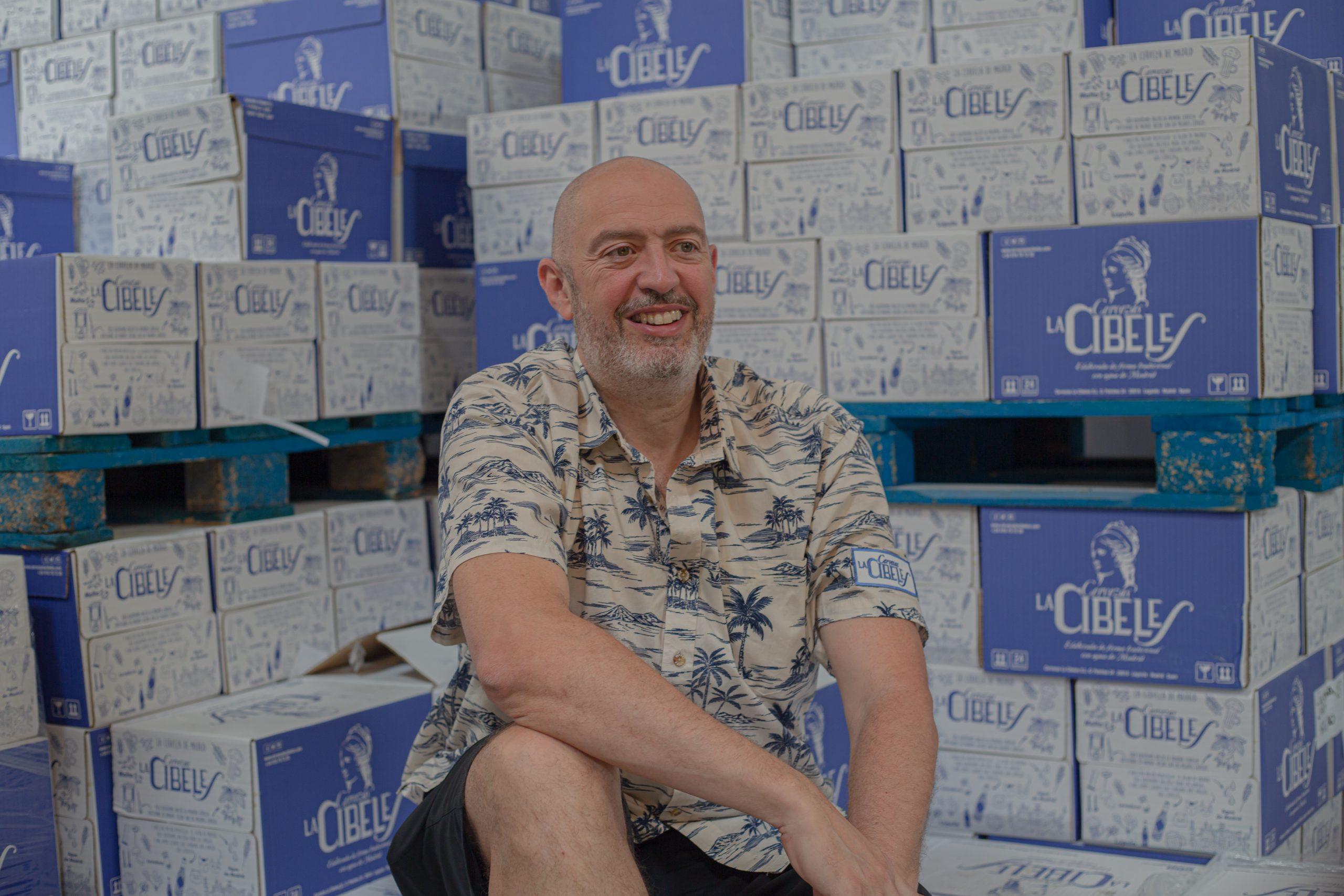 David Castro es el fundador de cervezas La Cibeles