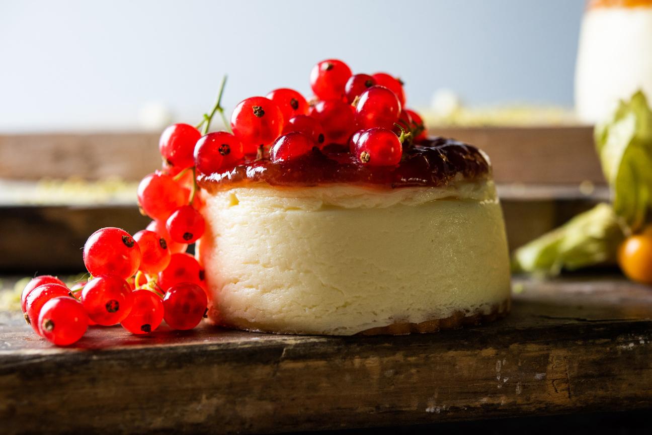 Cheesecake con grosellas de Levaduramadre